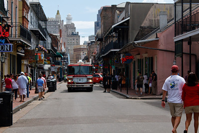 Fire Truck on Bourbon St