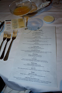 Spirited Dinner Menu at the Grill Room