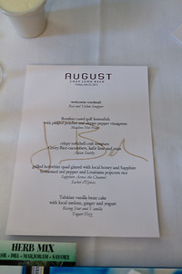 Bombay Sapphire Lunch Menu at Restaurant August