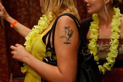 Dancing Cat Tattoo at the Botran Tiki Party