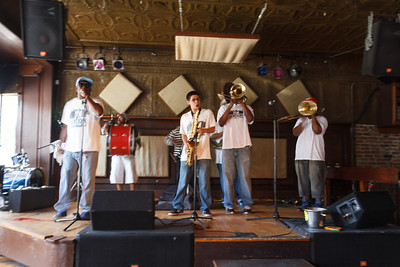 New Creations Brass Band at the Balcony Music Club