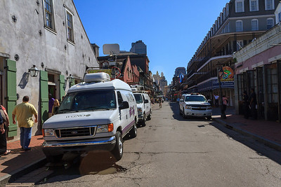 News Crew On Bourbon Street