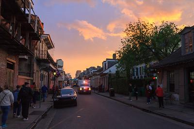 Evening Comes to Bourbon Street