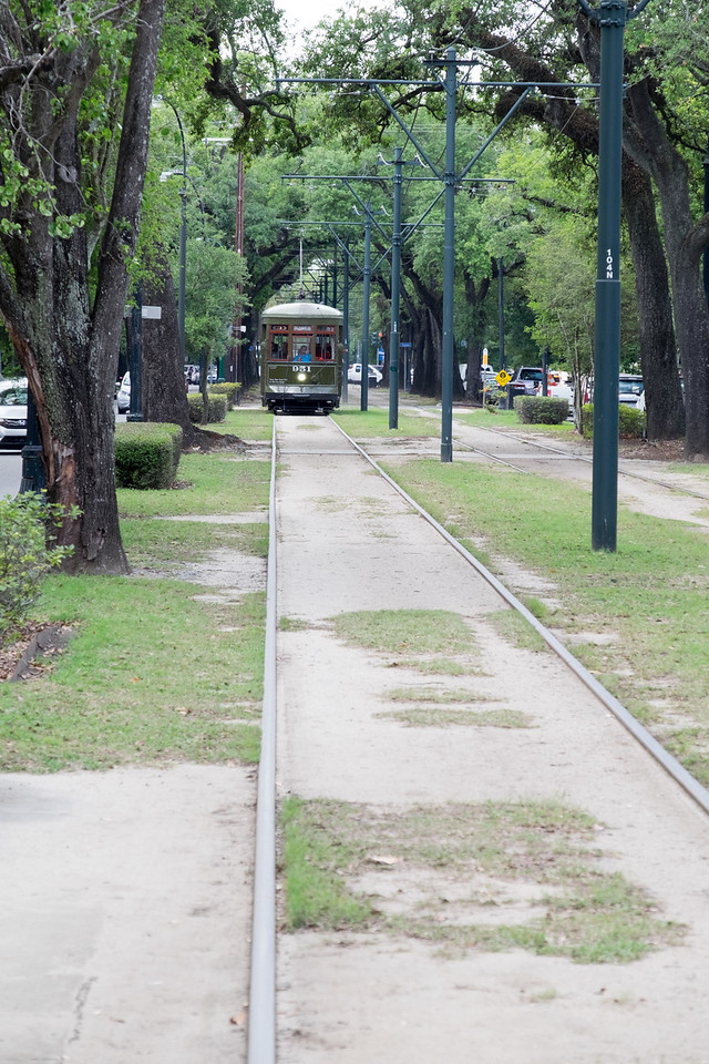 The St. Charles line of the street cars