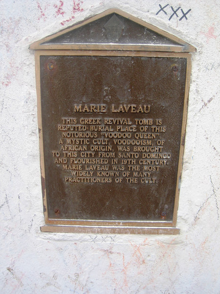 Grave of Mary Laveau the Voodoo Queen 1794-1881