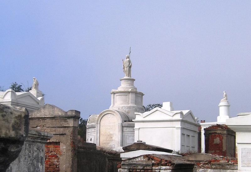 Jesus overlooking the cemetery