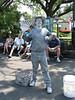 the Silver Man near Cafe du Monde