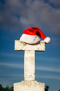 Christmas Decoration at Tomb in New Orleans