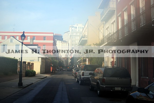 French Quarter Street VIew Early in the Morning