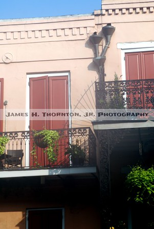 French Quarter Balcony Detail and Shadows