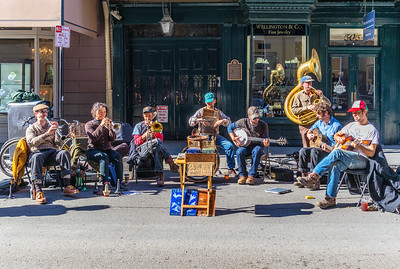 The Tuba Skinny Band on Royal Street in New Orleans