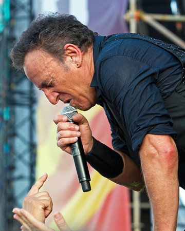 Bruce Springsteen and the E Street Band,  Absolutely performed one of the best shows on the Planet at the New Orleans Jazz Festival 2012!  Bruce interacting with his fans, making a connection with New Orleans and their plight.