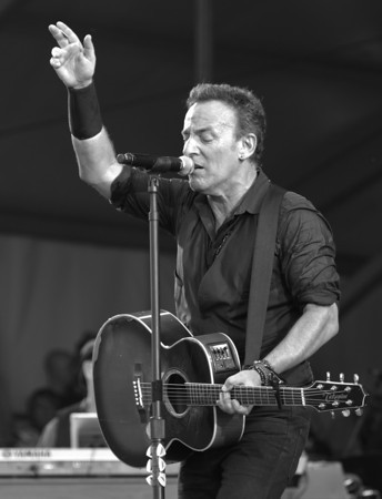 Bruce Springsteen Acoustic guitar, New Orleans Jazz Festival 2012.