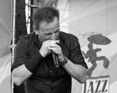 "Bruce Springsteen ~ Plays the harmonica, ""The Promise Land"". New Orleans Jazz Festival 2012"
