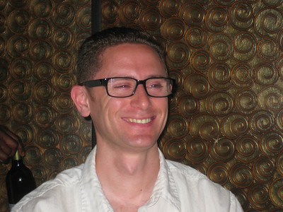 Justin in Tony's glasses