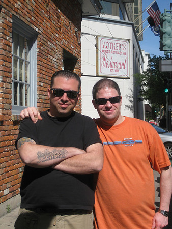 Tony & Pete outside Mother's
