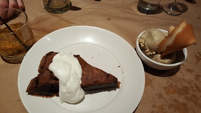 thai chili chocolate chess pie, jamaican coffee ice cream with fortune cookie