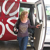 Patti arrived via the airport shuttle van 10 minutes after me.