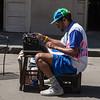Streetside poet & his typewriter