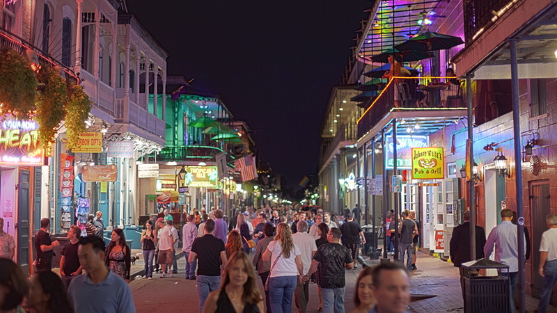 Nightime In The French Quarter