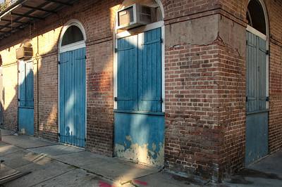 New Orleans corner with door, windows