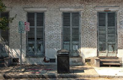 New Orleans street, door, windows