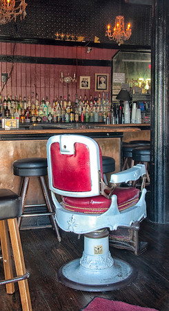 New Orleans bar with barber chair.