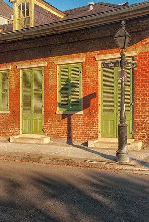 Windows, Doors, Lamp post and shadow