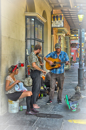 Street performers, New Orleans