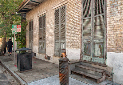 New Orleans street with door and windows