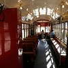 Louisiana, New Orleans, View from the inside of a trolley