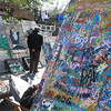 Art for sale near Jackson Square. Note city's proud obsession with the Saints/Super Bowl.