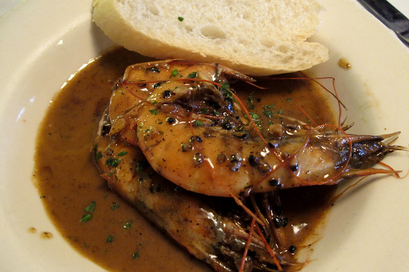 and ended with BBQ shrimp. Nothing BBQ about it, mind you; just shrimp swimming in this rich, buttery, peppery sauce. Ridiculously delicious.