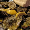 Late-night charbroiled oysters--buttery, garlicky, cheesy goodness, though these were a bit too charred.