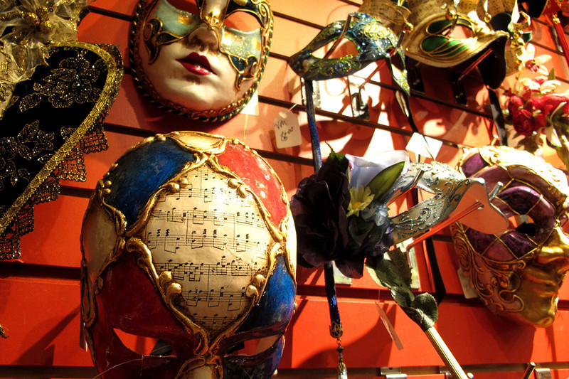 Gorgeous masquerade masks at all prices. These were some of the pricier ones.