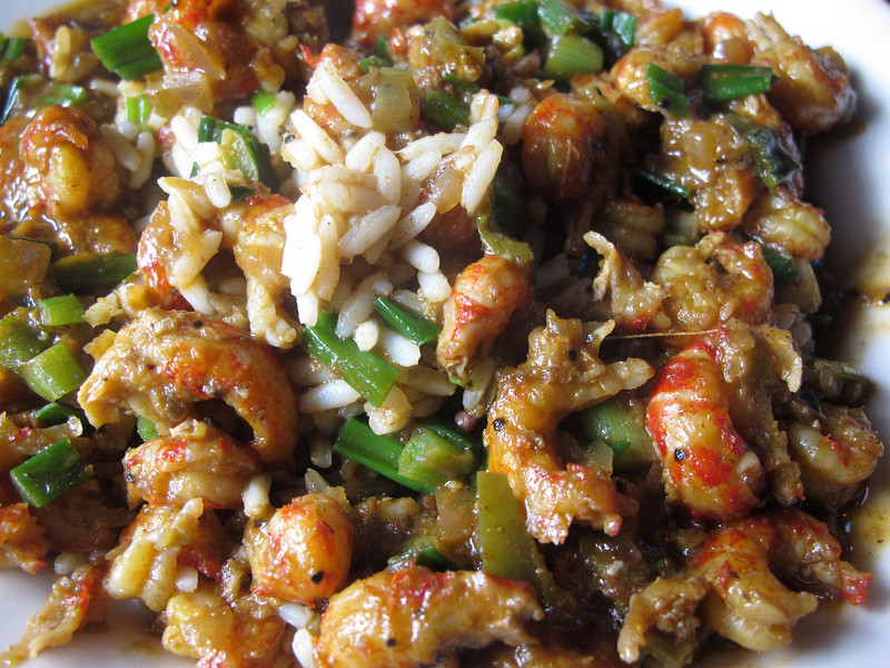 Later, crawfish etouffee in a great little dive bar--one of my new favorite dishes to eat and to make.