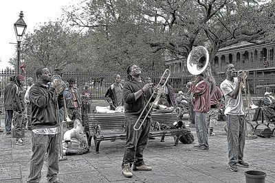 Jackson Square Jazz 5 - Stylized