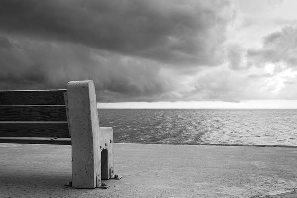 Storm roaring through Lakefront (8x12)