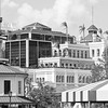 Jackson Brewery New Orleans Black and White from Across River