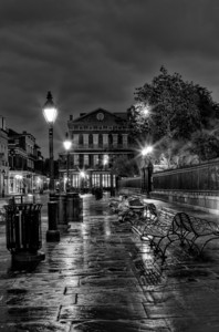 Jackson Square in Black & White