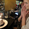 Nope, not praying--just making another b-day wish, having just been sung to by another whole restaurant.