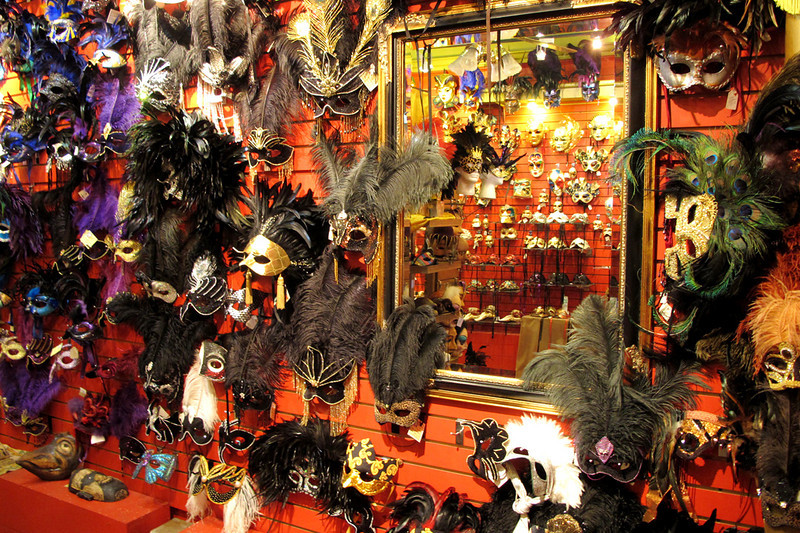 Inside the Mask Arcade store in the French Quarter.