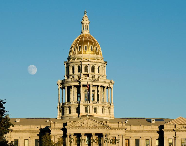 Moonrise over Denver