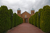 Holy Cross Catholic church, Santa Cruz, New Mexico. Built in 1733.