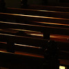 Day 26 - Pews in St Mel's church, Narrandera