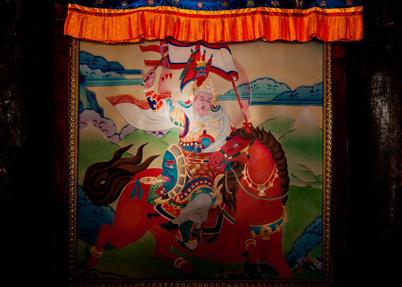 King Gesar of Ling displayed at the Tibetan Museum in Kangding/Dartsedo