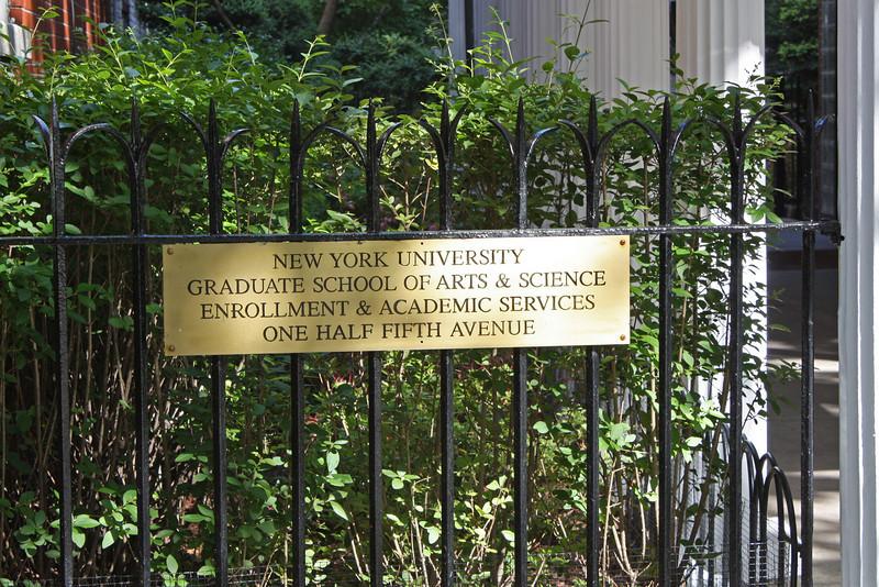 Greenwich Village, note the address