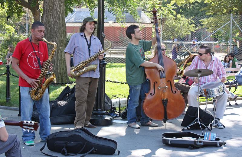 Washington Square - the sax man was really hot