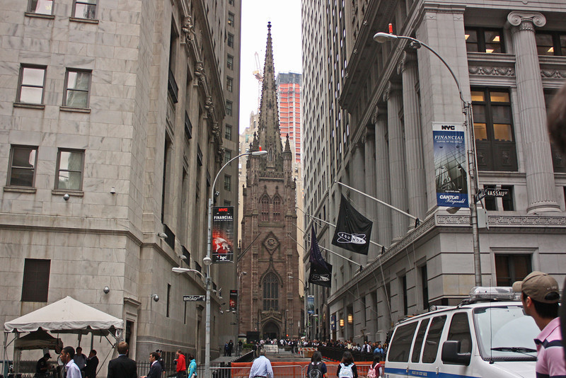 Trinity Church from Broad and Wall