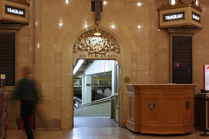 Track gate, Grand Central Station